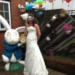white rabbit, alice in wonderland, themed party, tim burton