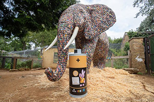 Duracell promotes battery recycling with elephant sculpture
